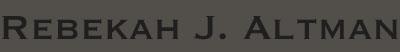 Rebekah J Altman Fine Art Website Logo
